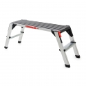 Grande plate-forme mobile en aluminium antidérapante et caoutchoutée