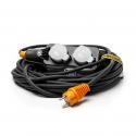 Connecteur flexible à quatre broches avec câble de rallonge et crochet de suspension
