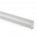 Profilé de bordure en PVC rigide auto-adhésif avec lèvre, Jambes inégales