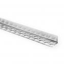 Profilé d'extrémité en aluminium fin et lisse, perforé d'un côté