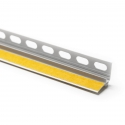 Profilé d'enduit en PVC rigide, auto-adhésif, robuste, avec patte d'enduit