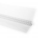 Profilé de mouvement en PVC rigide perforé, robuste et sans plastifiant