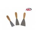 Couteau peintre flexible manche ergonomique bois