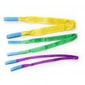 Elingues flexibles en polyester avec facteur de sécurité 7:1 selon EN 1492-1