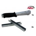 667 ALFA set agrafeuse (agrafeuse marteau + agrafes)