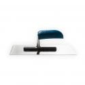 Platoir à colle rectangulaire en acier inoxydable avec manche en bois