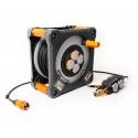 Tambour de câble robuste et pratique avec bloc d'alimentation et indicateur de disponibilité optique intégré