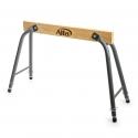 Tréteau de travail pliable en acier et bois robuste