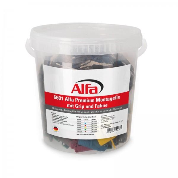 6601 ALFA Fixation de montage PREMIUM avec ergot de retenue