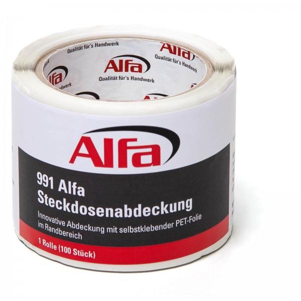 991 ALFA Cache-Prise adhésif