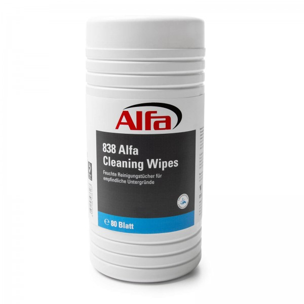 838 ALFA Chiffons de nettoyage humides Cleaning Wipes