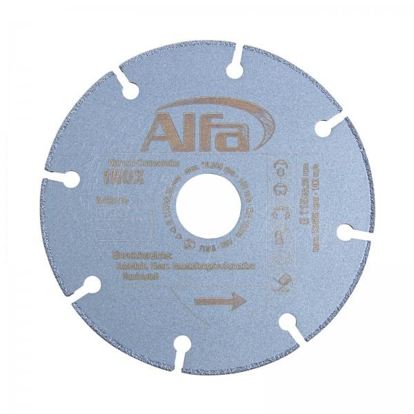 6763 Alfa Disque à tronçonner diamanté INOX