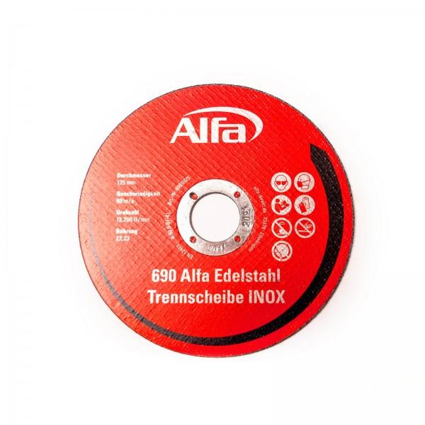 690 ALFA Disque de coupe pour métal (INOX) à moyeu plat