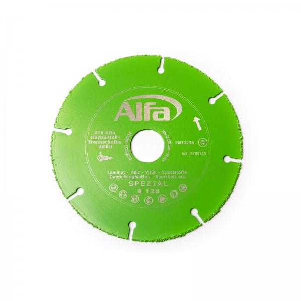 670 ALFA Disque de coupe en métal dur AKKU