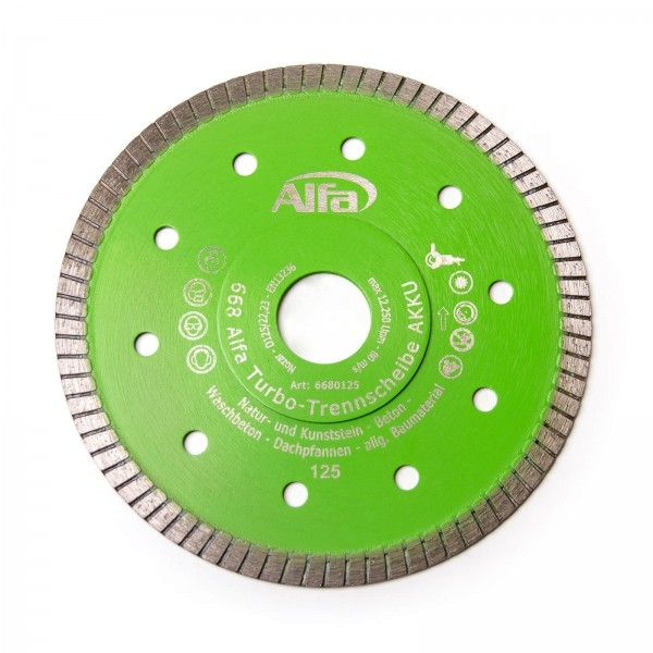 668 ALFA Disque diamanté de coupe – turbo AKKU