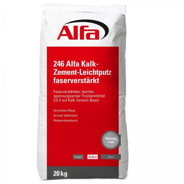 246 ALFA Enduit léger, renforcé en fibres à base de chaux