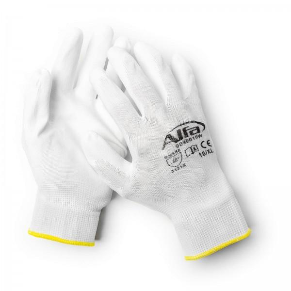 909 W ALFA - Gants pour peintre blanc (avec revêtement PU)