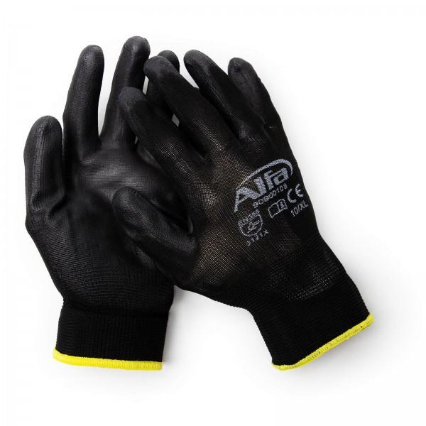 909 S ALFA - Gants pour peintre noir (avec revêtement PU)