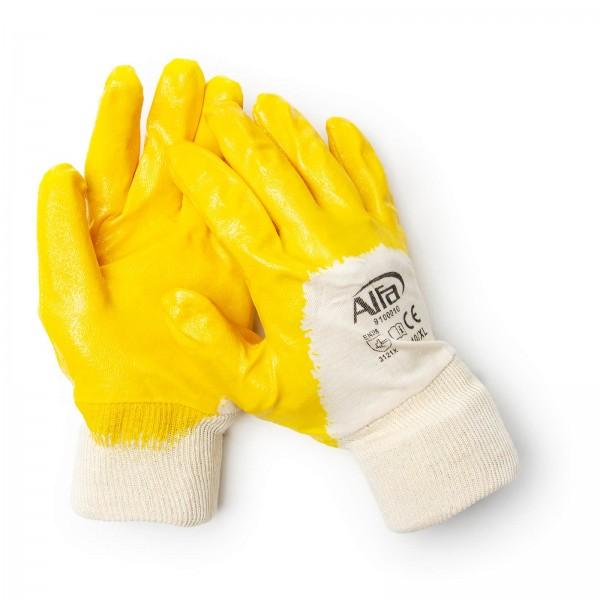 910 ALFA - Gants en coton (revêtus de Nitrile)