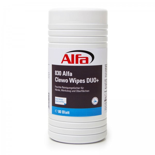 830 ALFA - Lingettes nettoyantes Clewo Wipes Duo+