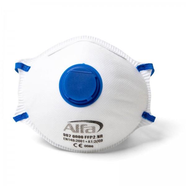907 ALFA - Masque poussières fines FFP2 (avec valve)