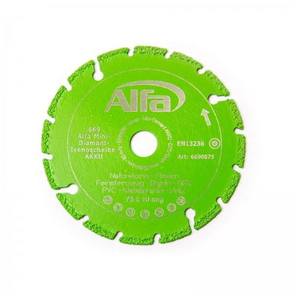 669 ALFA Mini disque diamanté de coupe – AKKU