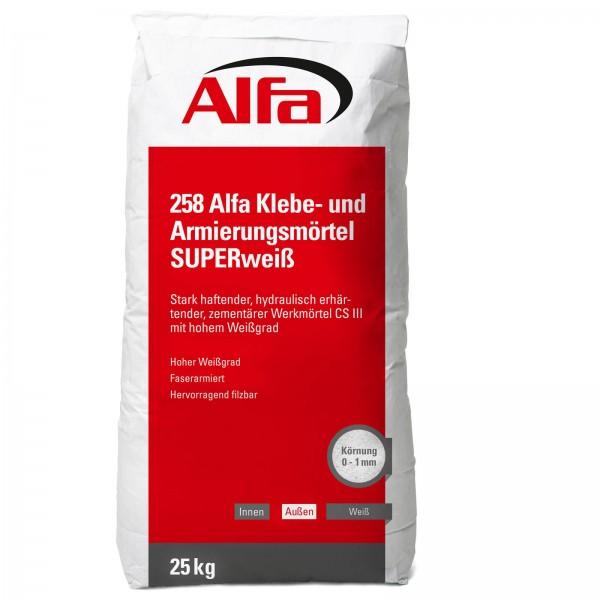 258 Alfa Mortier adhésif et de renfort SUPER Blanc