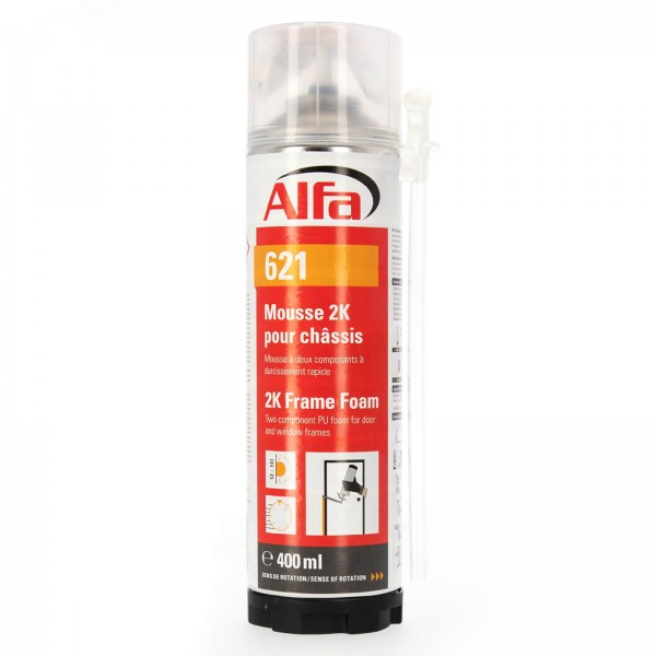 621 ALFA - Mousse PU expansive bi-composants 400ml manuelle