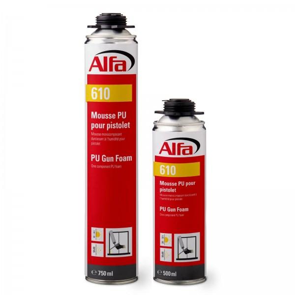 610 ALFA - Mousse expansive polyurethane (PU) mono-composant pour pistolet