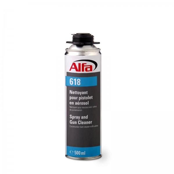 618 ALFA - Détergent aérosol - Nettoyant pour pistolet