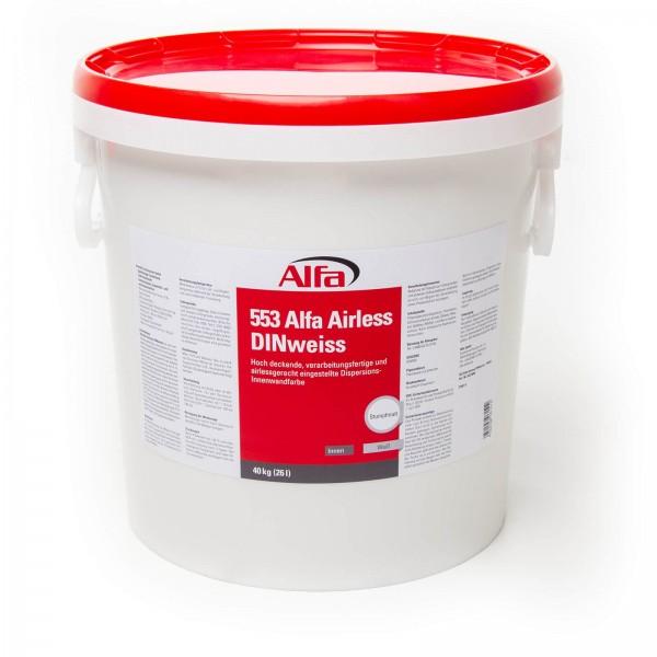 553 Alfa Airless DIN Blanc (peinture murale de dispersion)