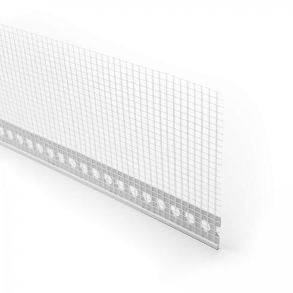 528 ALFA - Profilé d'enduit en PVC tramé pour crépis - intérieur et extérieur