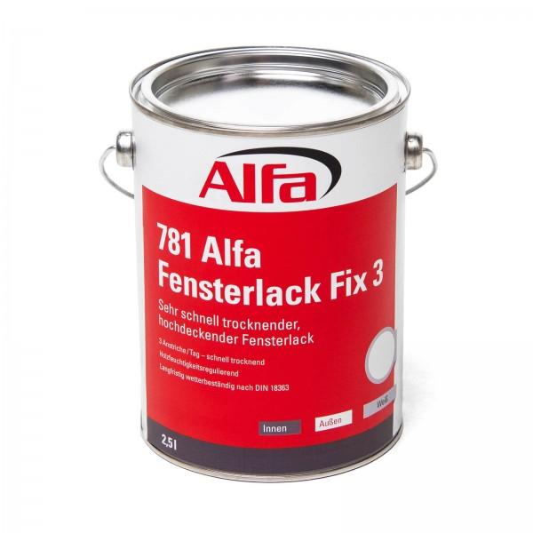781 ALFA - Vernis pour fenêtres FIX 3